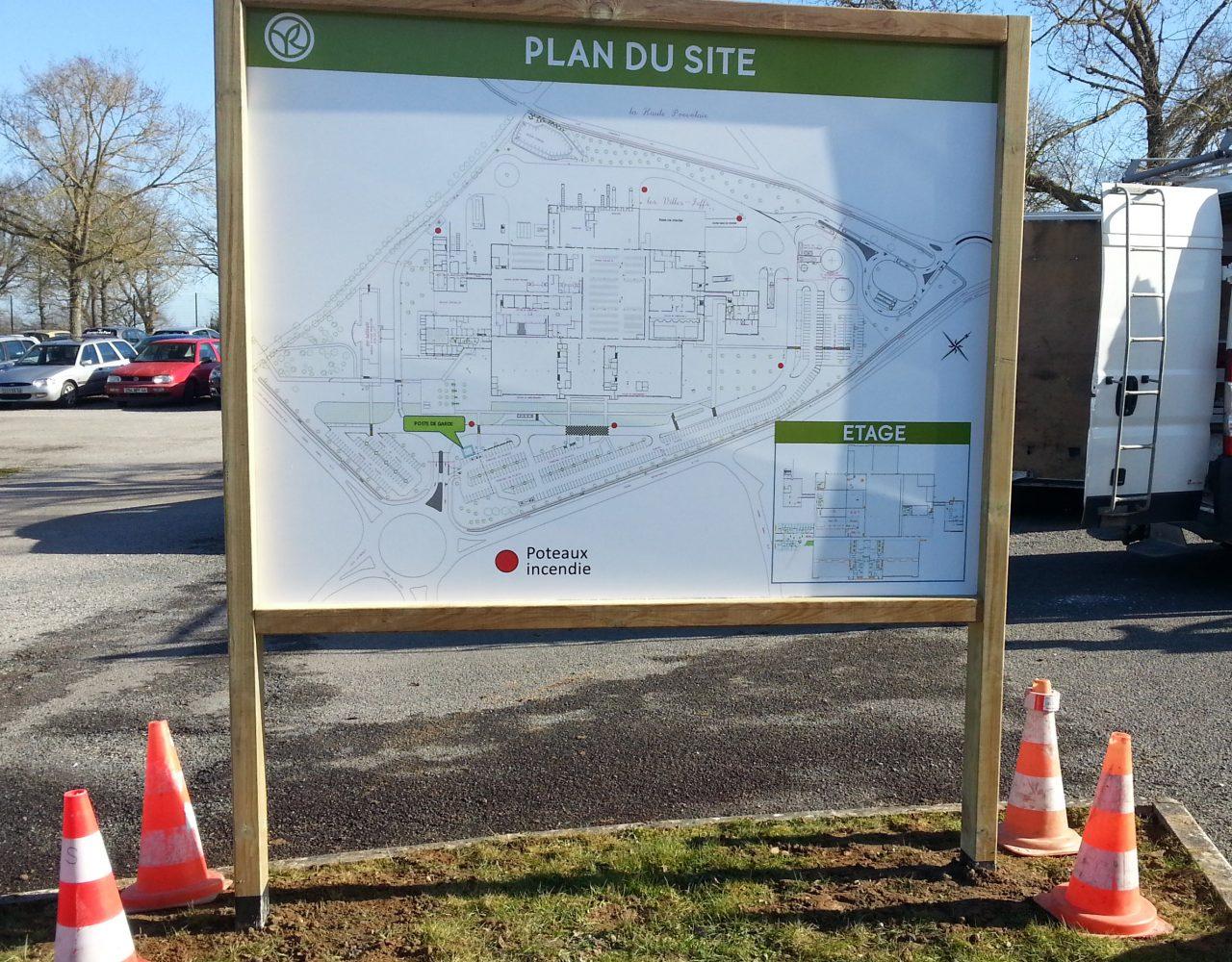 Panneau plan de site bois