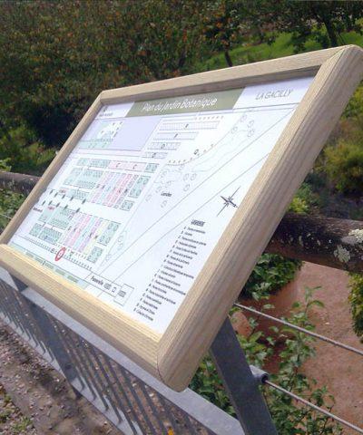 Panneau avec cadre bois