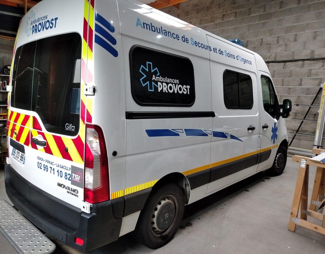 stickage de véhicule ambulance redon